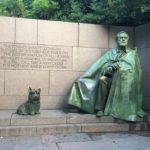 Fala and ME go to FDR memorial on Discover DC Pedicab